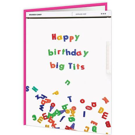 Happy Birthday Big T*ts Card