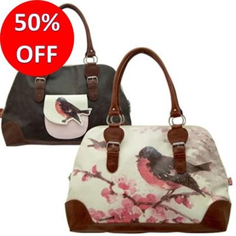 Vintage Overnight Bird Bag