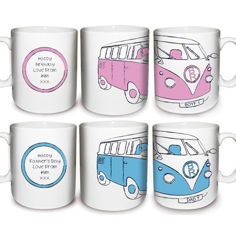 Personalised Assorted Camper Van Mug