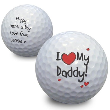 Personalised I 'Heart' Golf Ball