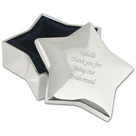 Personalised Star Trinket Box