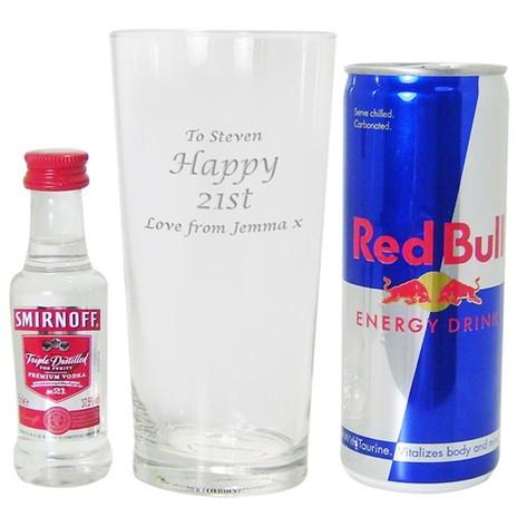 Personalised Vodka & Red Bull Set