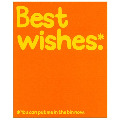 Best Wishes Card, Waldo Pancake