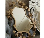 Tile_vintage_mirror_with_gold_corsage_flowers