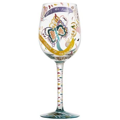 Lolita Social Butterfly Wine Glass