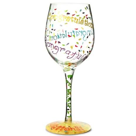 Lolita Wine Glass Congratulations
