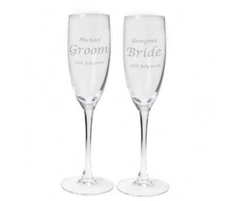 Set of Two Personalised Celebration Flutes