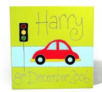 Click to enlarge - Bubble Car Personalised Canvas