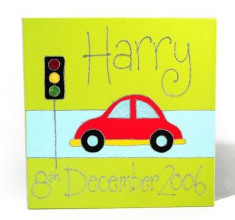Bubble Car Personalised Canvas