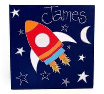 Click to enlarge - Rocket Personalised Canvas
