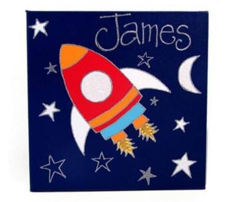 Rocket Personalised Canvas