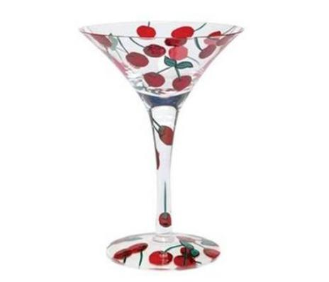 Lolita Martini Glass, Cherry Bomb