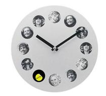 Click to enlarge - Silver Round Photo Clock