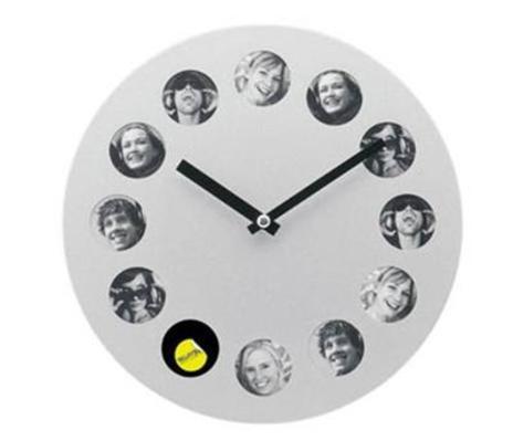 Silver Round Photo Clock