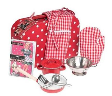 Retro Spot Cooking Set