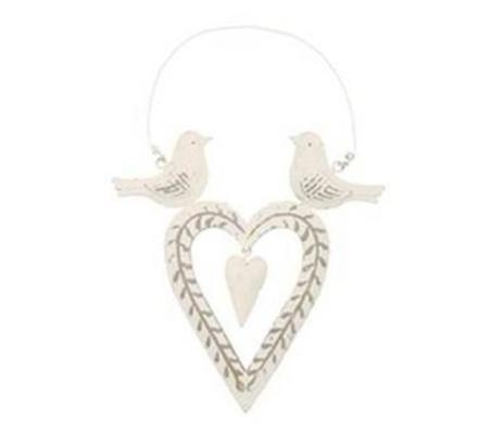 Love Birds Sitting on Heart