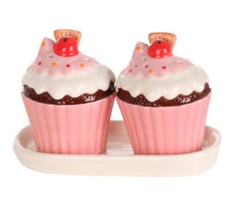 Cupcake Salt & Pepper Shaker, Sass & Belle