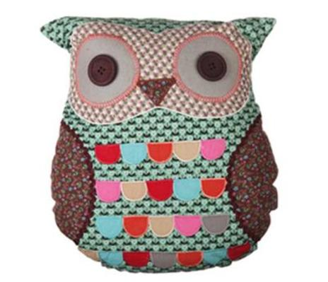 Green Owl Cushion