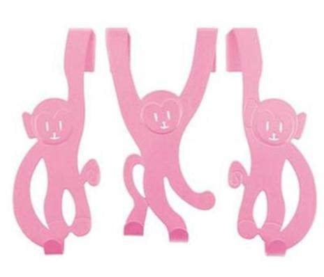 Cheeky Monkey Door Hangers Pink