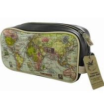 Click to enlarge - Mens Map Wash Bag