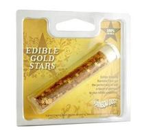 Click to enlarge - Edible Glitter Stars Gold