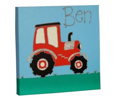 Tractor Personalised Canvas