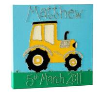 Click to enlarge - Tractor Personalised Canvas