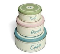 Click to enlarge - Vintage 3 Cake Tins