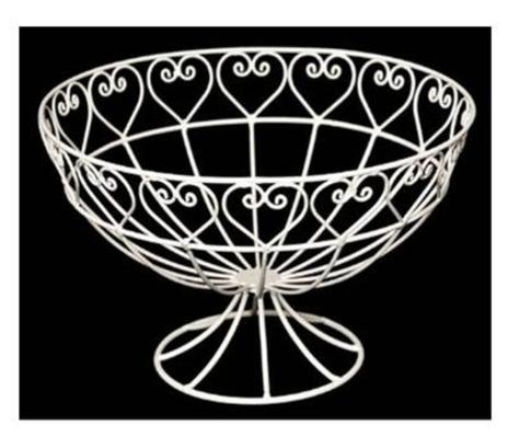 Sweetheart Wire Fruit Bowl