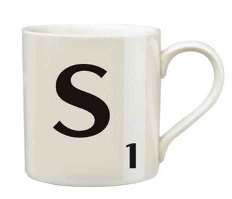 Scrabble 'S' Mug