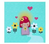 Click to enlarge - Kokeshi Jelly Magnet Card