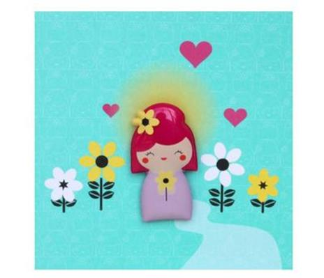 Kokeshi Jelly Magnet Card