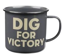 Click to enlarge - Enamel Dig for Victory Mug