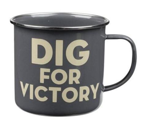 Enamel Dig for Victory Mug