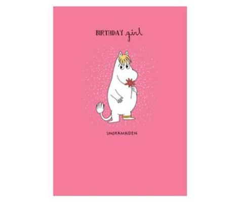 Moomin Birthday Girl Card
