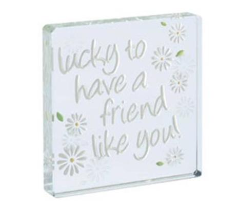 Spaceform Miniature Token Lucky To Have a Friend Like You Daisies