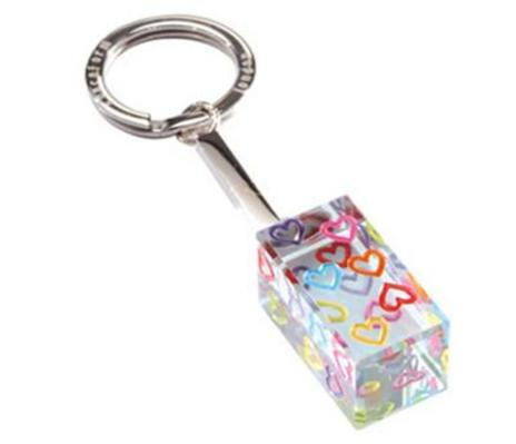 Spaceform Keyring Cuboid Multi Hearts