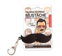 Click to enlarge - Talking Mustache Keyring