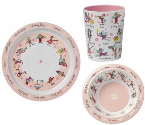 Tyrrell Katz Fairies Plate Bowl and Beaker
