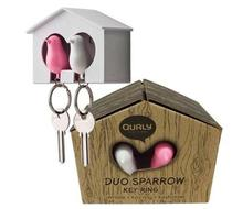Click to enlarge - Duo Sparrow Keyrings Pink