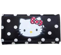 Click to enlarge - Hello Kitty Black Spotty Wallet