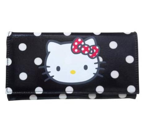 Hello Kitty Black Spotty Wallet