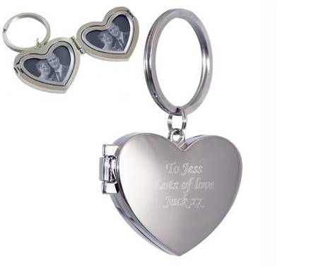 Personalised Photo Heart Keyring