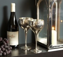 Click to enlarge - Hammered Wine Goblets, Culinary Concepts
