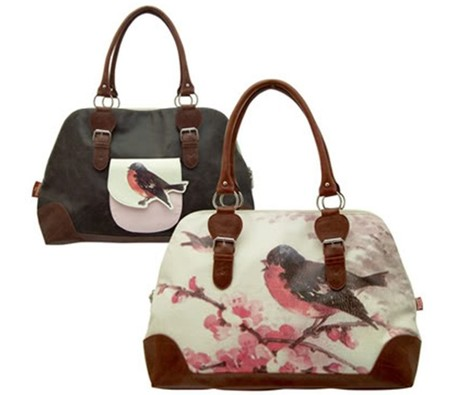 Vintage Overnight Bird Bag