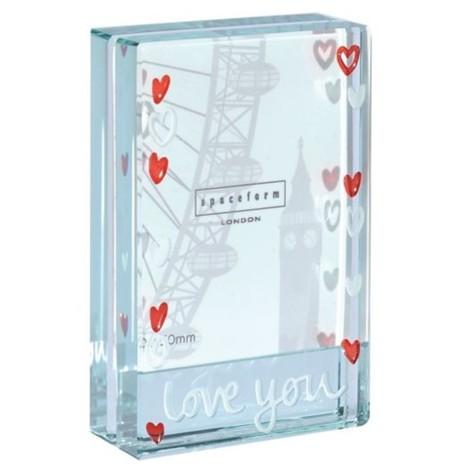 Spaceform Dinky Frame Love You Hearts