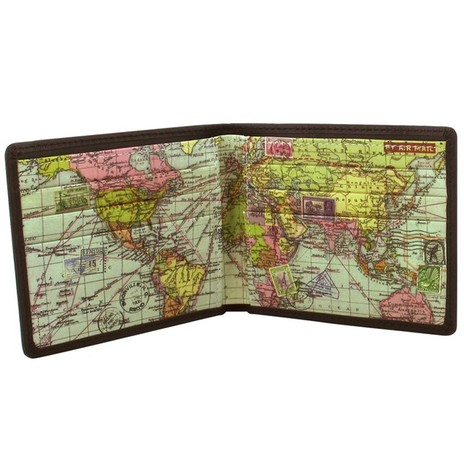 Leather Map Wallet