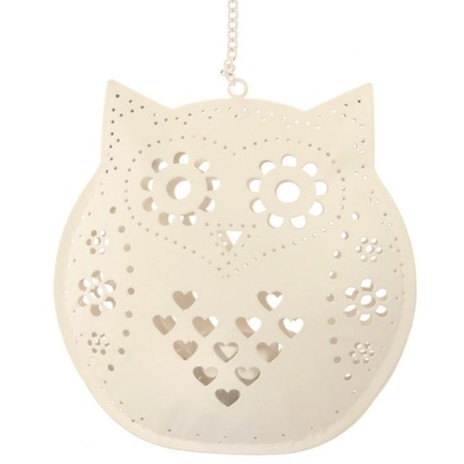 Hanging Owl Tealight Holder, Sass & Belle